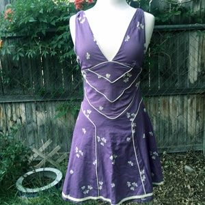 NWT Marc Jacobs Purple Butterfly Cotton Dress 6